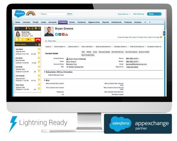 CounterPath Bria Stretto Salesforce Bundle - 12 Month Subscription Licence Includes Support