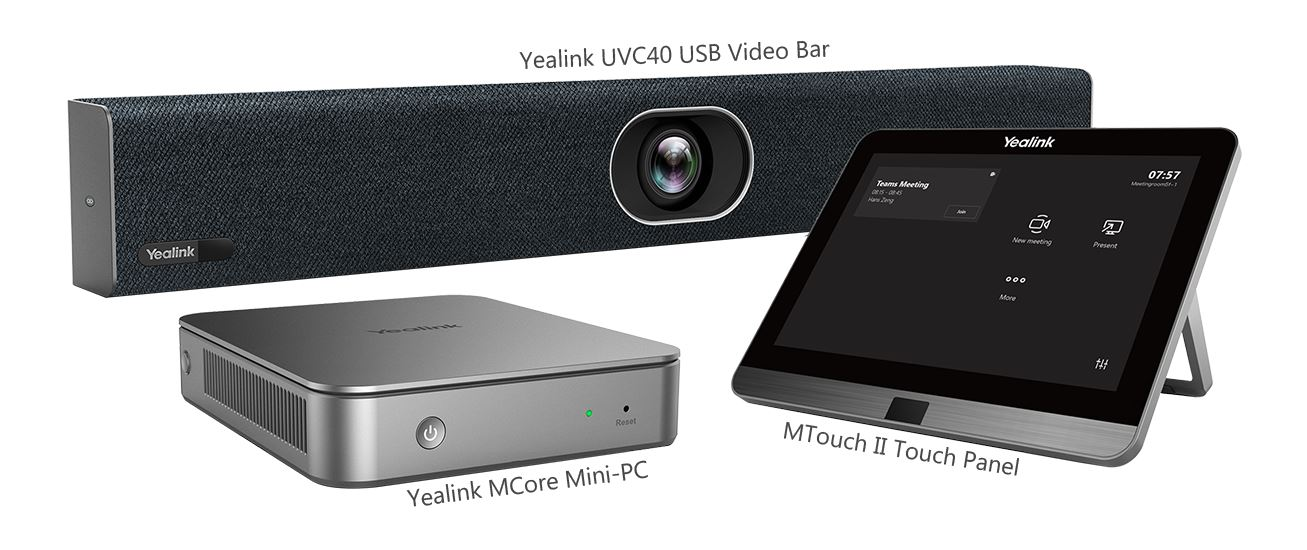 Yealink 2nd Generation Microsoft S4B/Teams Room System - Huddle Video Soundbar Solution with 4K video soundbar, Mini PC and Touch Controller II. Includes 2 years Return to Base Warranty
