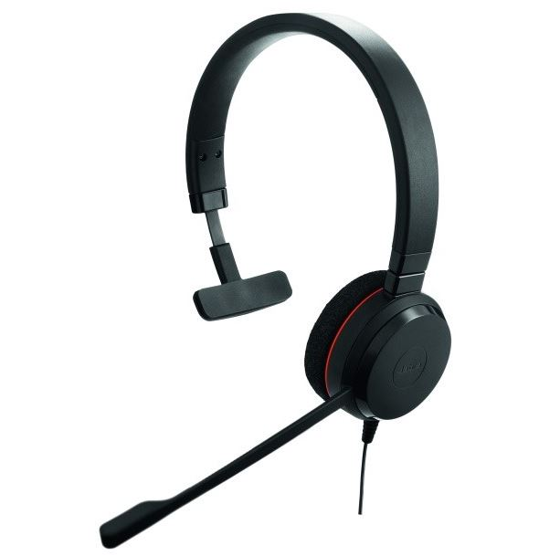 Jabra EVOLVE 20 SE Mono Headset - MS  with Leatherette Ear Cushions