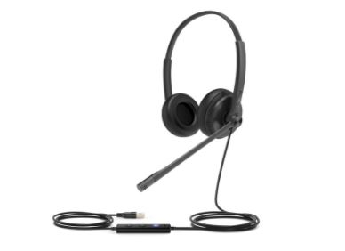 Yealink UH34 Teams USB Entry Level Headset Single Ear - USB and 3.5mm Jack connections included