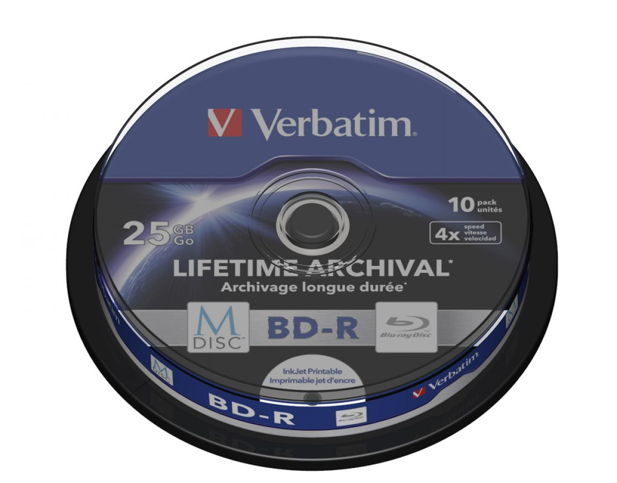 Verbatim M-DISC BD-R 25GB 4x10pk Spindle