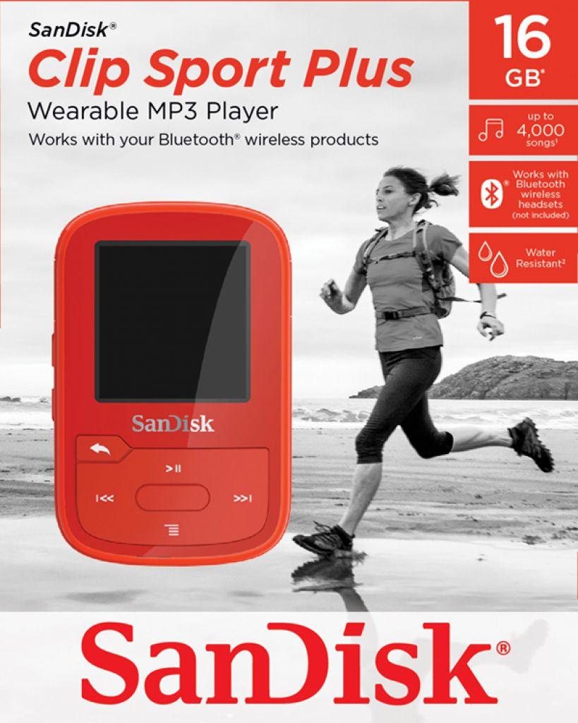 SanDisk 16GB Clip Sport Plus Red
