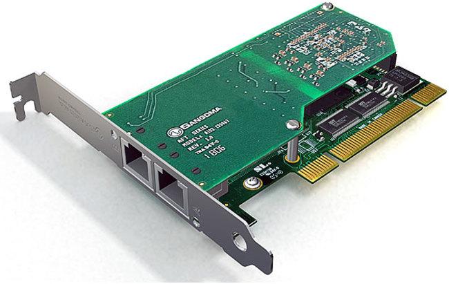 Sangoma A102D Dual Port T1/E1/J1 PCI Card w/EC HW
