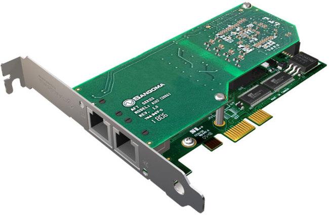 Sangoma A102DE Dual Port T1/E1/J1 PCIe Card w/EC HW