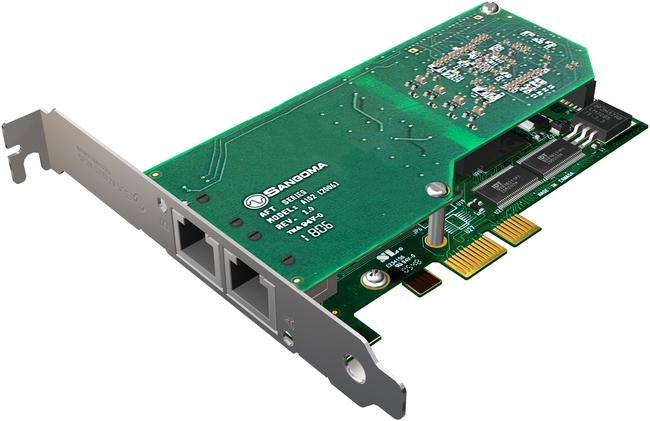 Sangoma A102E Dual Port T1/E1/J1 PCIe Card