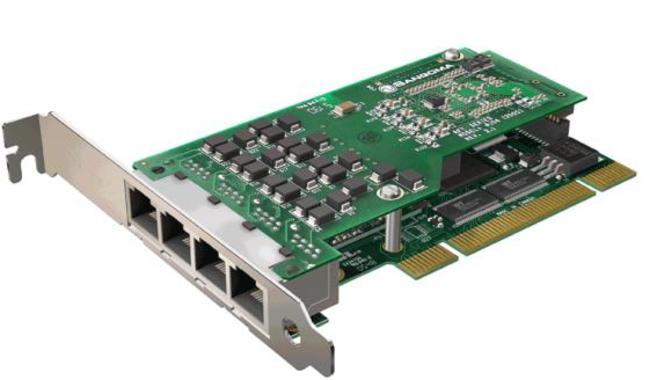 Sangoma A104D 4 Port T1/E1/J1 PCI Card w/EC HW