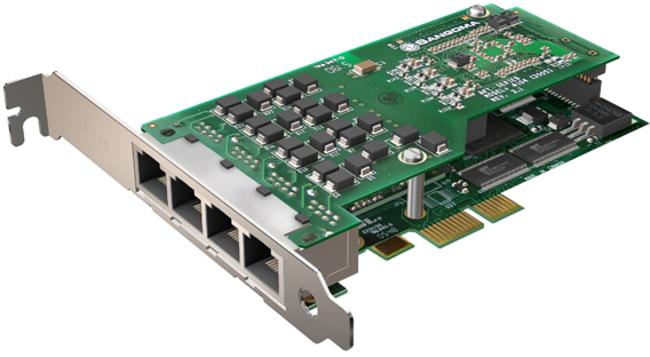 Sangoma A104DE 4 Port T1/E1/J1 PCIe Card w/EC HW