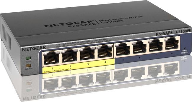 Netgear 8 Port (4 PoE), 10/100/1000, Managed Plus Switch