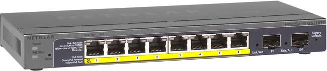 Netgear 8 Port (PoE), 2x SFP, 10/100/1000, Smart Switch