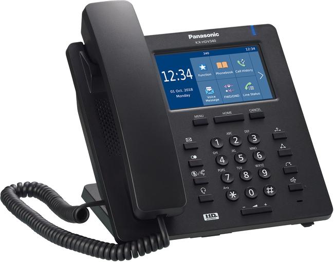 Panasonic KX-HDV340B IP Desk Phone (Black)