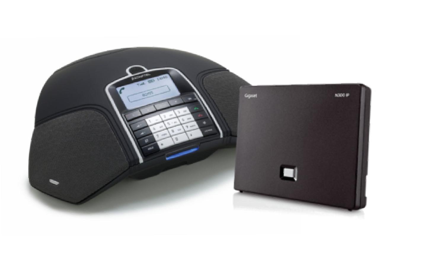 Konftel 300Wx with a Gigaset N300IP DECT Base Station