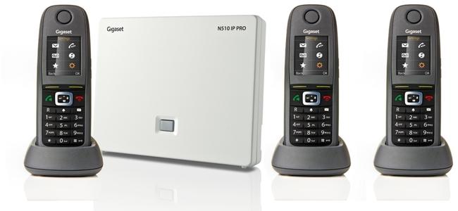 Gigaset N510IP PRO with 3 R650H PRO Handsets