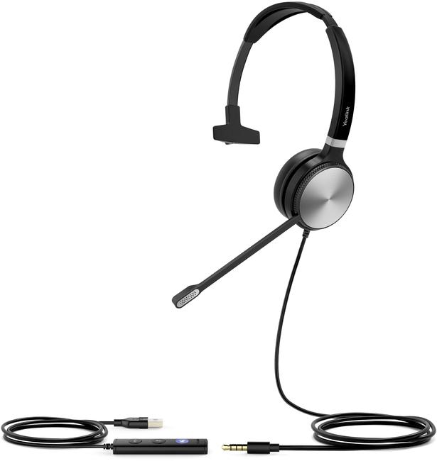 Yealink UH36 Monaural 3.5mm & USB Headset for Microsoft Teams