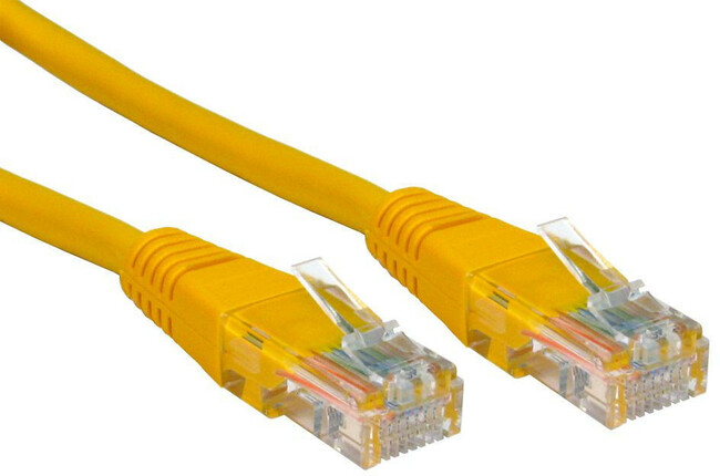 2-metre cat 5 cable in yellow